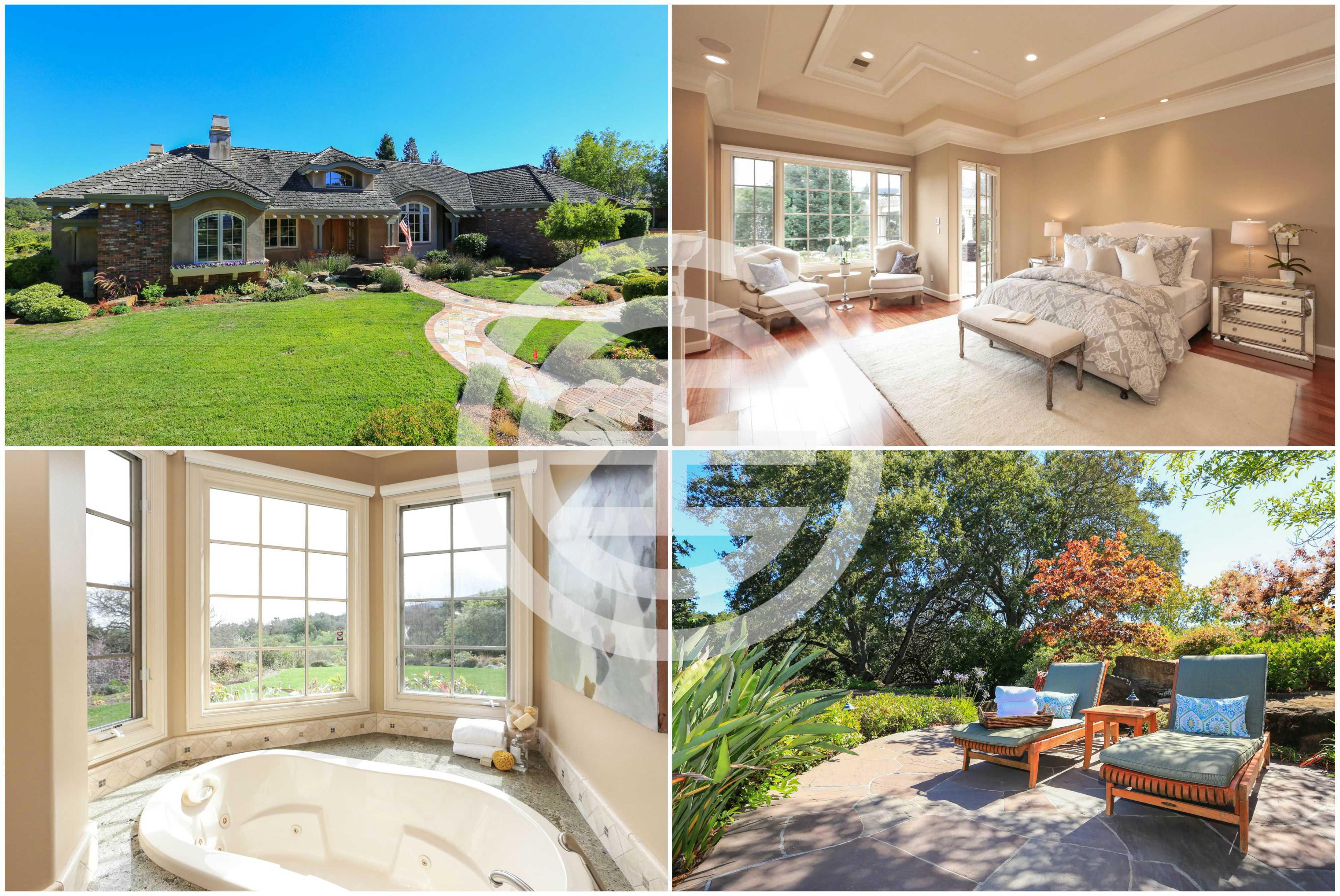 正在居外网上挂牌出售的旧金山湾区洛斯阿图斯山6卧5卫房产——日出农场庄园(Sunrise Farm Estate)