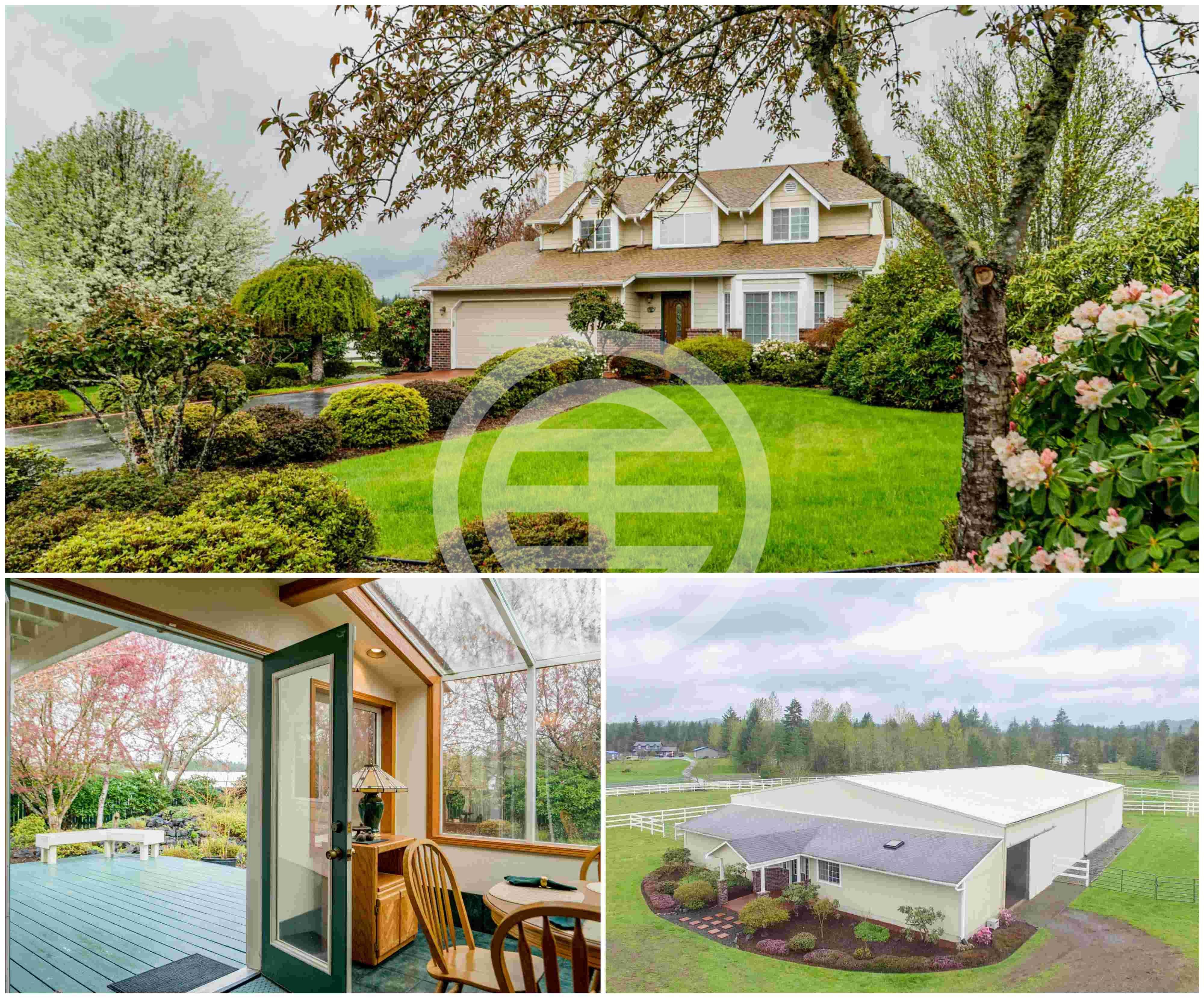 理想的环境,永恒的魅力,四季合适的乡村庄园——美国华盛顿州奥林匹亚的豪华大宅连私人马场,3卧2.5卫,占地4.3英亩