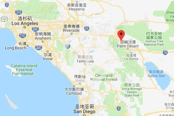 棕榈泉地理位置