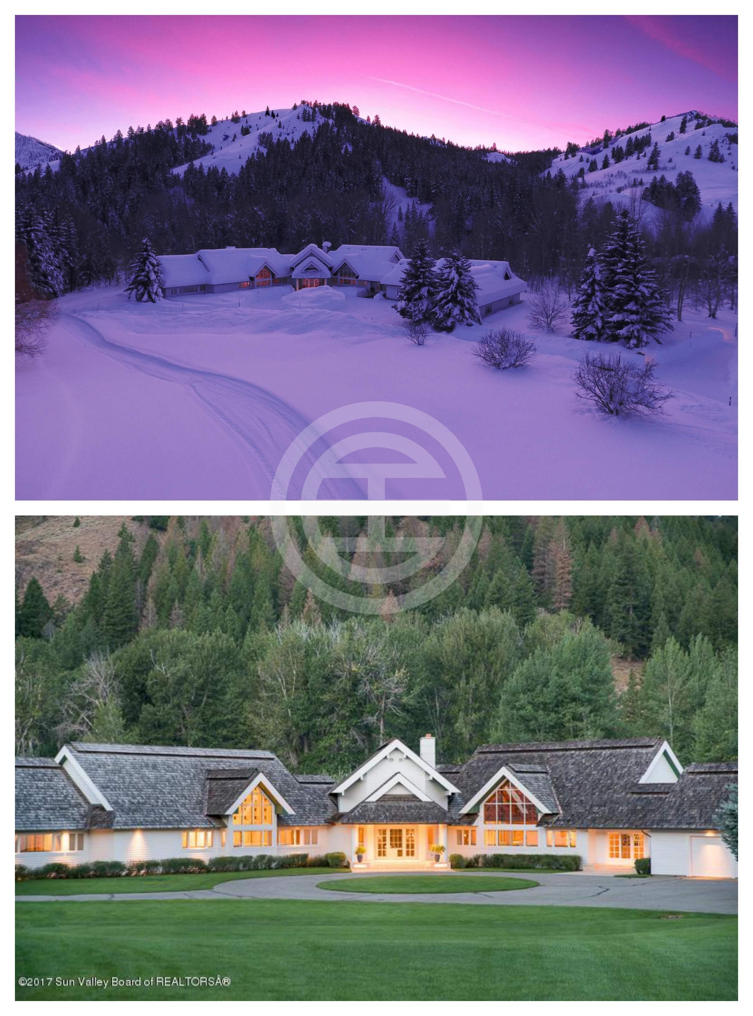 爱达荷州太阳谷(Sun Valley, Idaho)滑雪度假村中百万美元以上房产的销量同比增加了51%。图为居外房源(编号:39705024),这座宏伟的庄园占地超过13英亩,位於爱达荷州太阳谷的比格伍德河(Bigwood River)上,冬季和夏季的休闲娱乐场所比比皆是,拥有最大的隐私和美丽的自然美景,是避暑和过冬的完美度假屋。