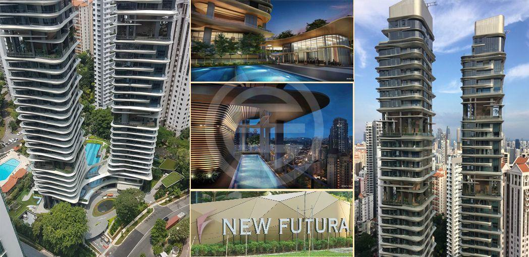 居外精选新加波房源3:NEW FUTURA 银峰——位于Leonie Hill路,靠近新加坡乌节路的超级豪华的公寓,开发商是世界知名的城市发展有限公司(CDL)。黄金地段,永久地契,交通方便!