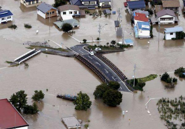 日本台风致33人死 多条河川泛滥成灾