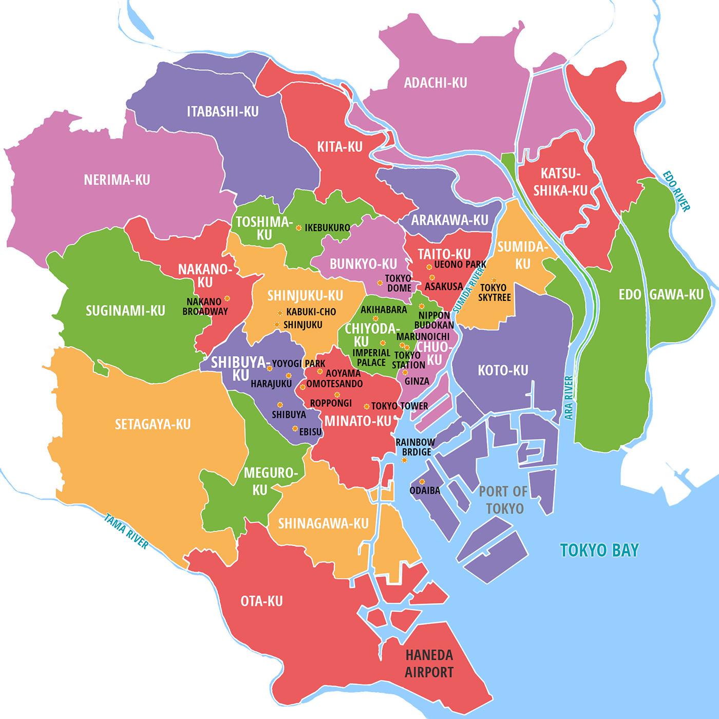 23 special wards in the Tokyo Metropolis