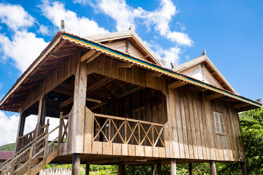 Traditional Khmer house cambodia