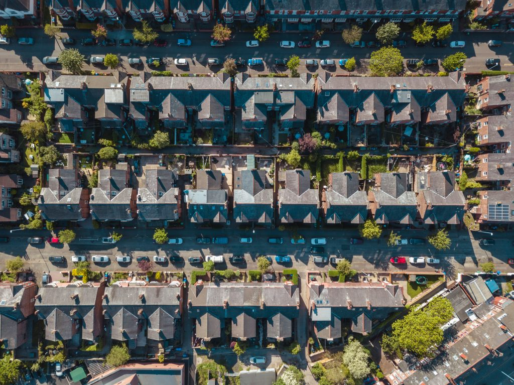 UK property aerial view