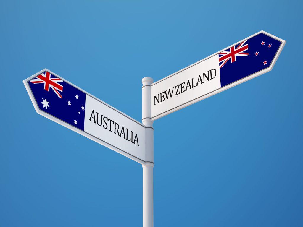 New Zealand, Australia