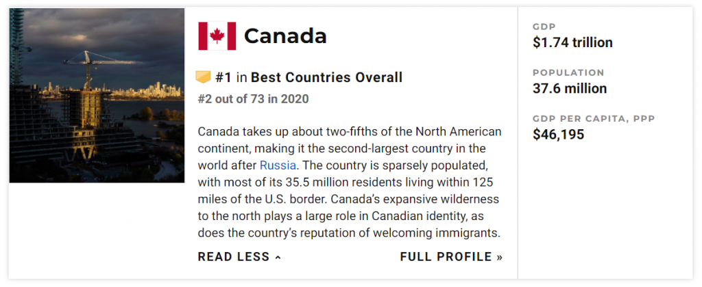 canada best country to live in