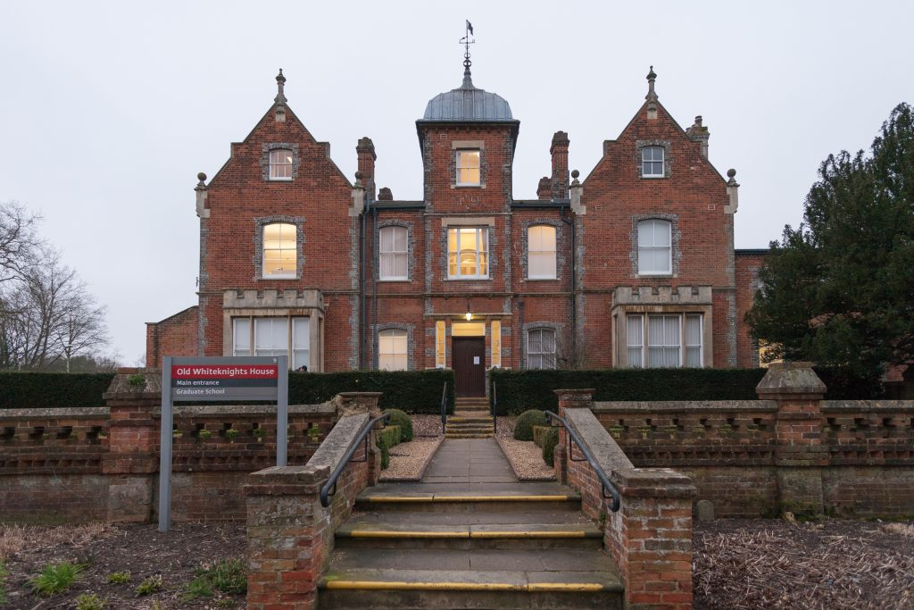 The Graduate School at University of Reading, called the Old Whiteknights House.